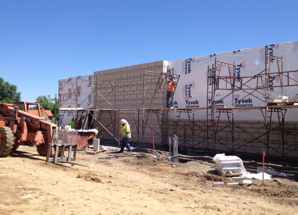 North masonry wall 6-19-14